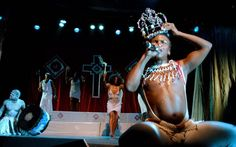 Kobus Rossouw Lighting design. House of the Holy Afro. Third World Bunfight. Director: Brett Bailey.