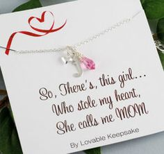There's This Girl who stole my Heart She Calls me MOM | New Mom Gift | Gifts for Mom | Gift from Daughter | New Mom Gift