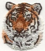 TIGER HEAD Amazing Details!  ACTUAL SIZE: 1 7/8 X 2 1/8 Inches    Applique patch  Iron-On or Sew to Any Garment Top Quality, Detailed