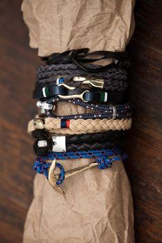 bracelet, men accessories, men's jewelry, men fashion, wrist candy, gentleman style, anchor, men watches, man jewelry