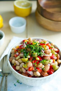 Easy Bean Salad has a gorgeous dressing you'll make again and again. Great for other salads, too.