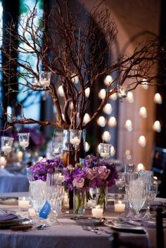 I like the hanging candles, very romantic