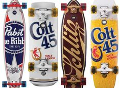 Hit the Streets with Pabst Brewing Company x Santa Cruz Decks #Skateboards #Sports
