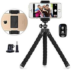 Phone tripod, UBeesize Portable and Adjustable Camera Stand Holder with Wireless Remote and Universal Clip, Compatible with iPhone, Android Phone, Sports Camera NEW VERSION】: Camera & Photo # Electronics Projects, Kitchen Electronics, Electronics Gadgets, Phone Tripod, Mobile Stand, 7 Places, Bluetooth Remote, Iphone Bluetooth, Wireless Security