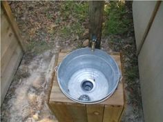Cute outdoors sink!