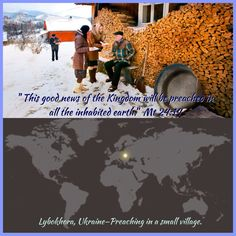 Lybokhora, UKRAINE—Preaching in a small village.  ❀ Fast Facts - Ukraine ❀ 45,464,917 - Population ❀ 150,905 - Ministers who teach the Bible ❀ 1,743 - Congregations ❀ 1 to 301 - Ratio of Jehovah's Witnesses to population  JW.org has the Bible & Bible based study aids to read, watch, listen & download available. They are available in 300+ languages (sign languages included).  All of these are at no charge.