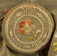 Button detail: Frockcoat, third quarter 18th century, French