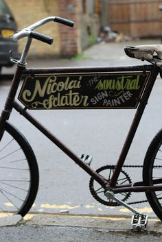 sign painters bike