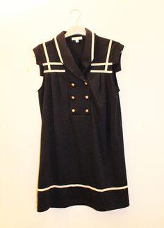 A vendre sur #vintedfrance ! http://www.vinted.fr/mode-femmes/robes-dete/19975728-robe-bleu-marine-style-marin-silence-noise