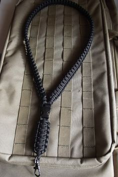 Solid Black Heavy Duty 550 Paracord Survival Lanyard by c2zinn, $16.00