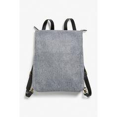 Monki Flat backpack ($33) ❤ liked on Polyvore featuring bags, backpacks, grey cloud, zip backpack, slim backpack, laptop rucksack, backpack laptop bag and slim laptop backpack