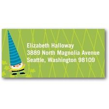 Gnome Balloon Return Address Labels at Tiny Prints