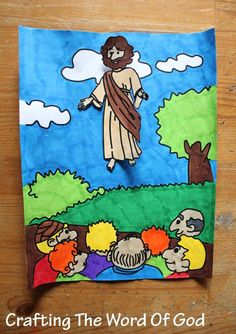 """This quick craft will help illustrate the story of Jesus' ascension. """"9And after He had said these things, He was lifted up while they were looking on, and a cloud received Him out of their sight...."""