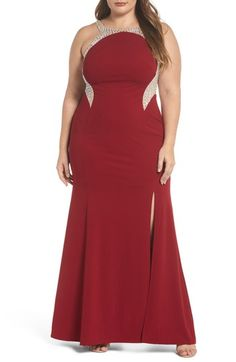 76e67af01c3 Spend money on Decode Embellished Illusion Gown (Plus Size)