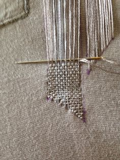 Rhinestic's Knick Knacks: Making Good: Weaving Embroidery Mending . Geometric Forms