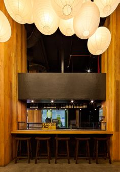 Ramen Ya, Restaurant Fit-out, The Paramount, Bourke Street, Melbourne, Australia. Interior by Matt Gibson Architecture + Design. Photo: Christine Francis