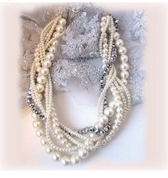 Wedding jewelry OOAK twisted  braided pearl by BijouxandCouture, $66.50