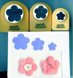 Plum Blossom - UME Paper Punch SET of 3- S,M,L, Punch Bunch Scrapbook-Cardmaking