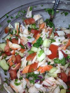 Make and share this Crab Ceviche Appetizer recipe from Genius Kitchen. Fish Recipes, Seafood Recipes, Appetizer Recipes, Mexican Food Recipes, Salad Recipes, Cooking Recipes, Healthy Recipes, Mexican Appetizers, Cooking