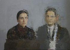 "Antonio Lopez Garcia // ""Antonio y Mari"" . Another favorite, legendary Spanish painter Antonio Lopez Garcia is the embodiment of the… Local Painters, Social Art, Spanish Painters, Painter Artist, Glitch Art, Painting & Drawing, Drawings, Paintings, Instagram"