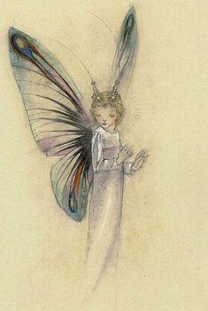 Untitled 7 by Sulamith Wulfing Fairy Dust, Fairy Land, Fairy Tales, Magic Fairy, Elfen Fantasy, Fantasy Art, Kobold, Vintage Fairies, Love Fairy
