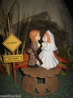 REDNECK WEDDING CAMO DEER HUNTER HUNTING CAKE TOPPER | eBay