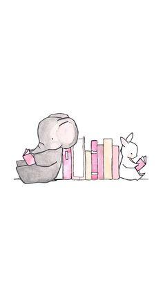 Imagem de book, elephant, and wallpaper Cute Easy Animal Drawings, Cute Drawings, Cute Elephant Drawing, Elephant Doodle, Elephant Illustration, Cute Illustration, Cute Disney Wallpaper, Cute Cartoon Wallpapers, Dibujos Cute
