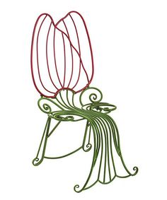 Another great find on #zulily! Red & Green Stem Tulip Chair #zulilyfinds $149.99