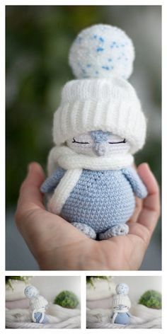 Crochet amigurumi 654007177125892755 - Amigurumi Little Penguin Free Pattern – Free Amigurumi Patterns Source by pascalesolve Crochet Animal Patterns, Crochet Patterns Amigurumi, Stuffed Animal Patterns, Amigurumi Doll, Crochet Dolls, Knitted Dolls, Knitted Baby, Flower Patterns, Crochet Penguin