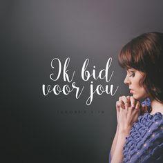 Voor wie bid jij? Bemoedig deze persoon door te laten weten dat je voor hem/haar of haar bidt. Want als een goed en rechtvaardig mens God om iets bidt, heeft dat een geweldige uitwerking. Jakobus 5:16 #Bemoediging, #Bidden https://www.dagelijksebroodkruimels.nl/jakobus-516/