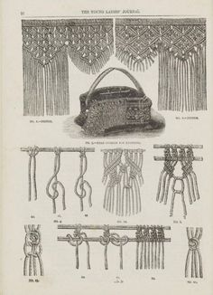 The Young Ladies' Journal, 1884 - section on macrame (2)