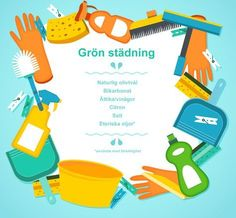 Grön städtips: städa miljövänligt med naturliga medel som du har i skafferiet. Gör rent enkelt och billigt utan kemikalier.