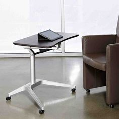 Finally, a WorkPad Mobile Standing Desk designed for Sit to Stand Computing. WorkPad is best alternative for electric height adjustable desk. Modern Home Office Furniture, Unique Furniture, Cheap Furniture, Pipe Furniture, Furniture Vintage, Furniture Decor, Standing Table, Standing Desks, Sit To Stand