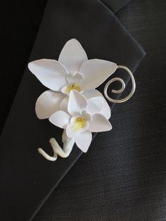 Custom Paper  Wire Orchid Boutonniere by JadeVineDesigns on Etsy, $10.00