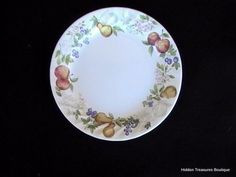 Corelle Corning Chutney Salad Plate Fruit Floral Swirled Rim #CorellebyCorning