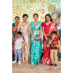 Image may contain: 7 people, people standing Indian Wedding Gowns, Indian Bridal Sarees, Wedding Silk Saree, Indian Bridal Fashion, Indian Beauty Saree, Bridal Lehenga, Silk Saree Kanchipuram, Silk Sarees, Kanjivaram Sarees