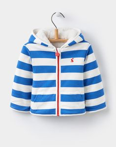 Stripy. Reversible. Practical. What more could you want?! • James Ocean Blue Stripe Reversible Fleece | Joules UK