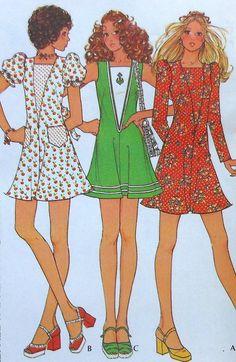 Vintage Dress Sewing Pattern UNCUT Size 14 by latenightcoffee
