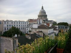 View from small apartment terrace in the 5th of The Pantheon, Paris. Shot by Shay Davidson