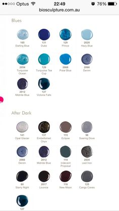 Bio Sculpture Colours Gel Nail Colors, Gel Color, Gel Nail Art, Nail Polish, Funky Nails, Blue Nails, Bio Sculpture Gel Nails, Funky Nail Designs, Body Therapy