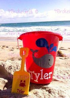 Personalized Beach Bucket  Sand Bucket  Fun in The by 4BrokeGirls
