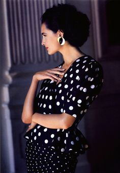Vogue UK, February 1989  Model: Daniela Ghione