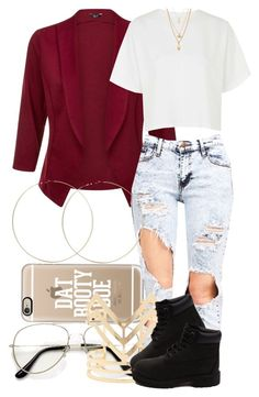 """""""2 6 16"""" by miizz-starburst ❤ liked on Polyvore featuring Casetify, Topshop, ASOS, Forever 21, Timberland, women's clothing, women, female, woman and misses"""