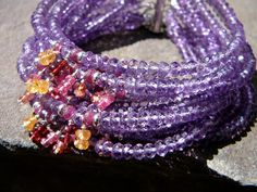 Hey, I found this really awesome Etsy listing at https://www.etsy.com/listing/185967166/the-claudia-amethyst-multi-strand-cuff