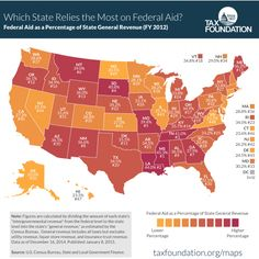 Map: How much each state relies on the federal government for revenue - The Washington Post