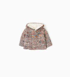 Afbeelding 1 van Multicoloured hooded jacket van Zara