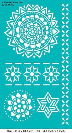 Dise/ño 18 x 18 cm Medidas Stencil 20 x 20 cm TODO STENCIL Deco Adamascado 083 Mandala