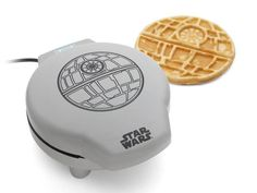 Breakfast just got more dramatic with hot waffles modeled after Darth Vader's much-feared spacecraft of doom.