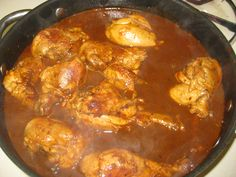 Guiso de Pollo en Adobo Chicken in Adobo Sauce Mexican cooking