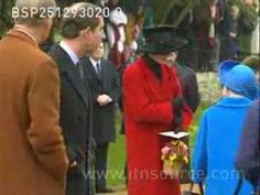 December 25, 1993: HRH Diana, Princess of Wales with the Royal family at Sandringham